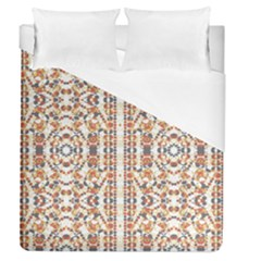 Multicolored Geometric Pattern  Duvet Cover (queen Size)