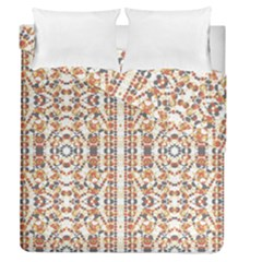 Multicolored Geometric Pattern  Duvet Cover Double Side (queen Size)