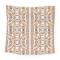 Multicolored Geometric Pattern  Square Tapestry (large)