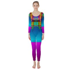 Sky Earth And Star Fall Long Sleeve Catsuit