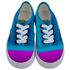 Sky Earth And Star Fall Kids  Classic Low Top Sneakers