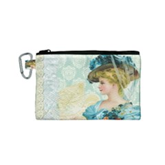 Lady 1112776 1920 Canvas Cosmetic Bag (small)