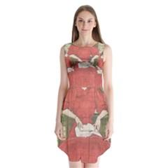 Vintage 1079413 1920 Sleeveless Chiffon Dress