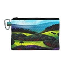Morning Mist Canvas Cosmetic Bag (medium)