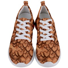 Shimmering Hearts Peach Men s Lightweight Sports Shoes