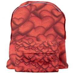 Shimmering Hearts Deep Red Giant Full Print Backpack