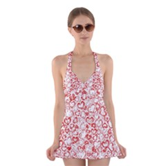 Vivid Hearts, Red Halter Dress Swimsuit