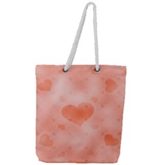 Soft Hearts C Full Print Rope Handle Tote (large)