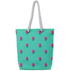 Love Heart Set Seamless Pattern Full Print Rope Handle Tote (small)