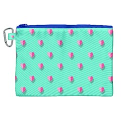 Love Heart Set Seamless Pattern Canvas Cosmetic Bag (xl)