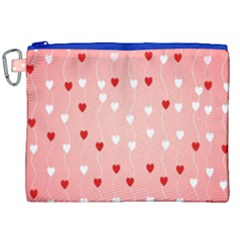 Heart Shape Background Love Canvas Cosmetic Bag (xxl)