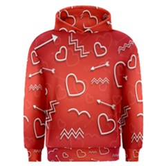 Background Valentine S Day Love Men s Overhead Hoodie