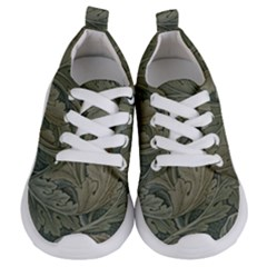 Vintage Background Green Leaves Kids  Lightweight Sports Shoes