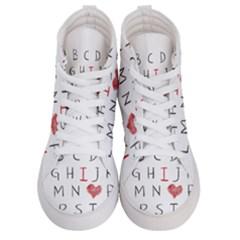 Love Alphabet Women s Hi Top Skate Sneakers