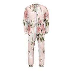 Pink Shabby Chic Floral Onepiece Jumpsuit (kids)