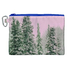 Winter Trees Pink Canvas Cosmetic Bag (xl)