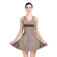 Gothic In Modern Stars And Pearls Reversible Skater Dress