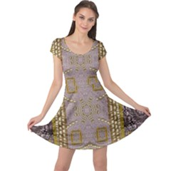 Gothic In Modern Stars And Pearls Cap Sleeve Dress