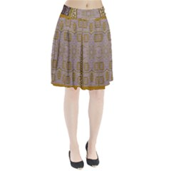 Gothic In Modern Stars And Pearls Pleated Skirt