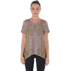 Gothic In Modern Stars And Pearls Cut Out Side Drop Tee