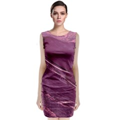 Hot Magenta Abstract Textured Fractal, Inspired By A Butterfly s Wing Classic Sleeveless Midi Dress