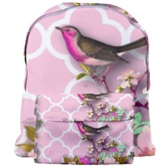 Shabby Chic, Floral,pink,birds,cute,whimsical Giant Full Print Backpack
