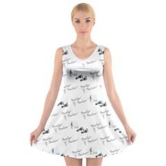 Custom V Neck Sleeveless Dress   Marilyn