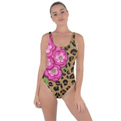 Floral Leopard Print Bring Sexy Back Swimsuit