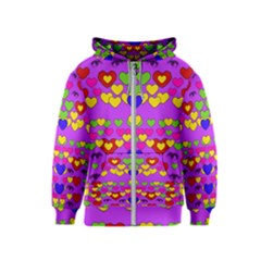 I Love This Lovely Hearty One Kids  Zipper Hoodie