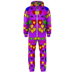 I Love This Lovely Hearty One Hooded Jumpsuit (men)