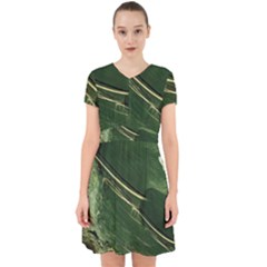 Deep Green Abstract Textured Fractal, Inspired By A Butterfly s Wing Adorable In Chiffon Dress
