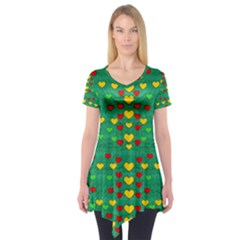 Love Is In All Of Us To Give And Show Short Sleeve Tunic