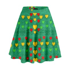 Love Is In All Of Us To Give And Show High Waist Skirt