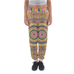 Wood Festive Rainbow Mandala Women s Jogger Sweatpants
