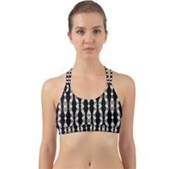 Wavy Stripes Pattern Back Web Sports Bra