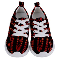 Background Abstract Red Black Kids  Lightweight Sports Shoes