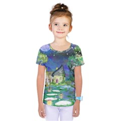 Background Fairy Tale Watercolor Kids  One Piece Tee