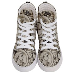 Young Old Man Weird Funny Women s Hi Top Skate Sneakers