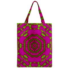 Fern Forest Star Mandala Decorative Zipper Classic Tote Bag