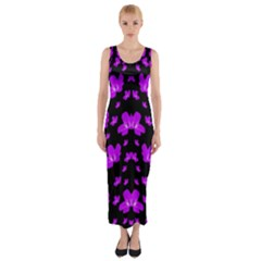 Pretty Flowers Fitted Maxi Dress