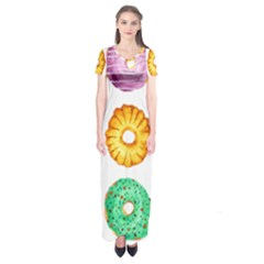Donuts Short Sleeve Maxi Dress