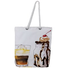 Coffee And Milkshakes Full Print Rope Handle Tote (large)