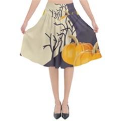 Halloween 979495 1280 Flared Midi Skirt
