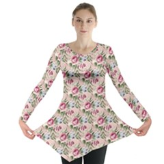 Cute Floral 218a Long Sleeve Tunic