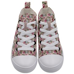 Cute Floral 218a Kid s Mid Top Canvas Sneakers