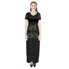 St  Patricks Day  Short Sleeve Maxi Dress