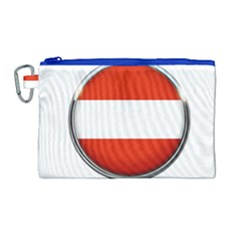 Austria Country Nation Flag Canvas Cosmetic Bag (large)
