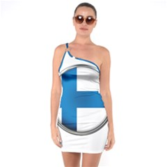Finland Country Flag Countries One Soulder Bodycon Dress