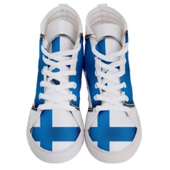 Finland Country Flag Countries Men s Hi Top Skate Sneakers