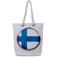 Finland Country Flag Countries Full Print Rope Handle Tote (small)